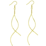 Golden Spiral Double Twist Earrings