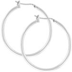 Silvertone Hoop Earrings
