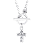 Perfect Faith Necklace in Silvertone