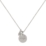 Angel Wings Silvertone Necklace