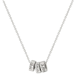 Triple Ring Friendship Necklace