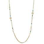 Peace and Fashion Goldtone Necklace