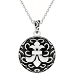 Antique Fleur De Lis And Necklace