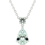 Chandelier Pear Cubic Zirconia Pendant Necklace