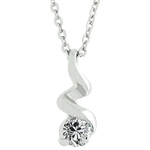 Ice Twist Pendant Necklace