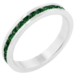 Petite Emerald Stackables Ring