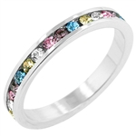 Petite Multi-Color Stackables Ring