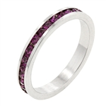 Amethyst Cubic Zirconia Stackable Ring