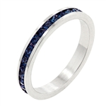 Montana Blue Cubic Zirconia Stackable Ring