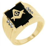 Stunning Masonic Men's Ring
