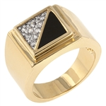 Gemini Cubic Zirconia Men's Ring