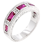 Nightlife Garnet Eternity Band