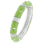 Apple Green Enamel Stacker Ring