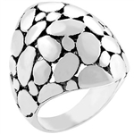 White and Black Cobblestone Ring