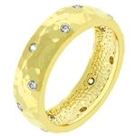 Gold Dimple Ring