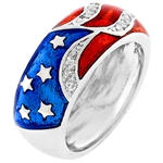 Stars and Stripes Patriot Ring