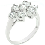 Silvertone Cluster Ring