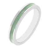 Fun For Eternity Ring  in Light Green