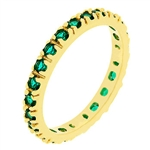 Emerald Green  Eternity Ring