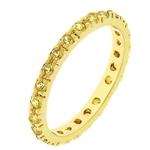 Topaz Yellow Eternity Ring