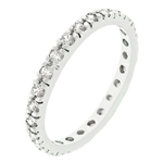 Clear Bliss Eternity Ring