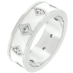 White Enamel Eternity Ring