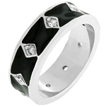Jet Black Enamel Eternity Ring