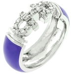 Purple Enamel Bling Ring