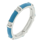 Blue Topaz Enamel Stacker Ring