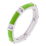 Lime Green Enamel Stacker