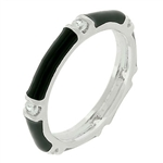 Jet Black Enamel Stacker Ring