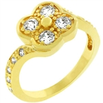 Golden Clover Ring