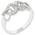 Cubic Zirconia Hearts Ring