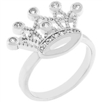 Cubic Zirconia Crown Ring