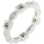 Square and Oval Eternity Ring