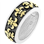 Fleur De Lis Eternity Band Ring
