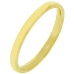 2mm IPG Gold Stainless Steel Band Ring
