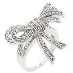 Shoelace Ribbon Cubic Zirconia Ring