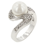 White Pearl Fashion Ring