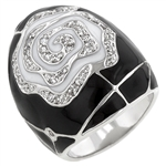 Black Rose Cocktail Ring