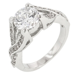 Silvertone Engagement Ring