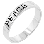 Peace Engravement Ring