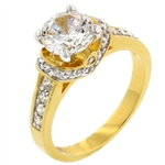 Golden Crushed Ring