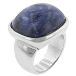 Sodalite and Silver Cocktail Ring