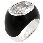 Black Mystique Cocktail Ring