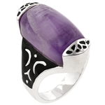 Amethyst Hue Cocktail Ring