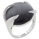 Grey Eye Cocktail Ring