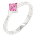 Petite Pink Ice Solitaire Ring