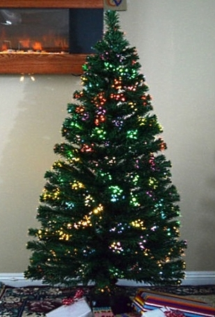Alternative Views: - High Quality 6' Artificial Pre-Lit Christmas Tree With Color Change