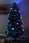 High Quality 6 Foot Pre-Lit Fiber Optic Christmas Tree